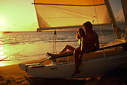 Couple, Sunset, Kaanapali, Maui<br />