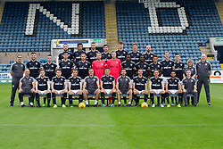 Dundee FC squad for 2017-18; Back row left to right - James McPake, Sofien Moussa, Marcus Haber, Kostadin Gadzhalov, Jack Hendry, Mark OÕHara, Dundee's James Vincent; <br /><br />Middle row left to right - Tommy Young (head of media), Kerr Waddell, Randy Wolters, Julen Etxabeguren, Tom Hateley, Scott Bain, Elliott Parish, Glen Kamara, Roarie Deacon, Danny Williams, Kevin Holt, Jesse Curran, Lorraine Noble (kit co-ordinator), Gerry Docherty (physiotherapist); <br /><br />Front Row left to right - Bobby Geddes (goalkeeping coach), Craig Wighton, Lewis Spence, Paul McGowan, Graham Gartland (assistant manager), Darren OÕDea (captain), Neil McCann (manager), Cammy Kerr, Scott Allan, Faissal El Bakhtaoui, Blair Doughty (fitness coach)