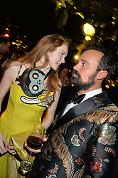 LILY COLE and EVGENY LEBEDEV at The Animal Ball presented by Elephant Family held at Victoria House, Bloomsbury Square, London on 22nd November 2016.