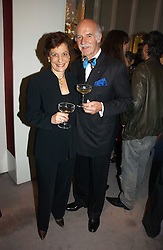 MR & MRS ANTON MOSIMANN at Garrard's Winter Wonderland party held at their store 24 Albermarle Street, London W1 on 30th November 2006.<br /><br /><br />NON EXCLUSIVE - WORLD RIGHTS