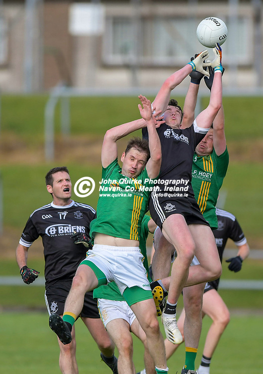 walterstown's Barry O'Connell in the air,   in the Castletown v Walterstown, 2020 Corn na Boinne Final match, at Pairc Tailteann, Navan.<br /> <br /> Photo: GERRY SHANAHAN-WWW.QUIRKE.IE<br /> <br /> 02-08-2021