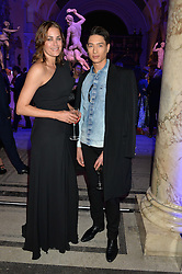 YASMIN LE BON and NAT WELLER at a private view of Alexander McQueen's Savage Beauty exhibition hosted by Samsung BlueHouse at the V&A, London on 30th March 2015.