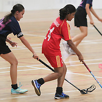 Yishun Sports Hall, Friday, April 1, 2016 — Bukit Merah Secondary overpowered Coral Secondary 7-1 in the semi-finals of the National B Division Girls Floorball Championship.