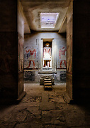 False door with life-sized representation of the deceased stepping through it in the Tomb of Mereruka