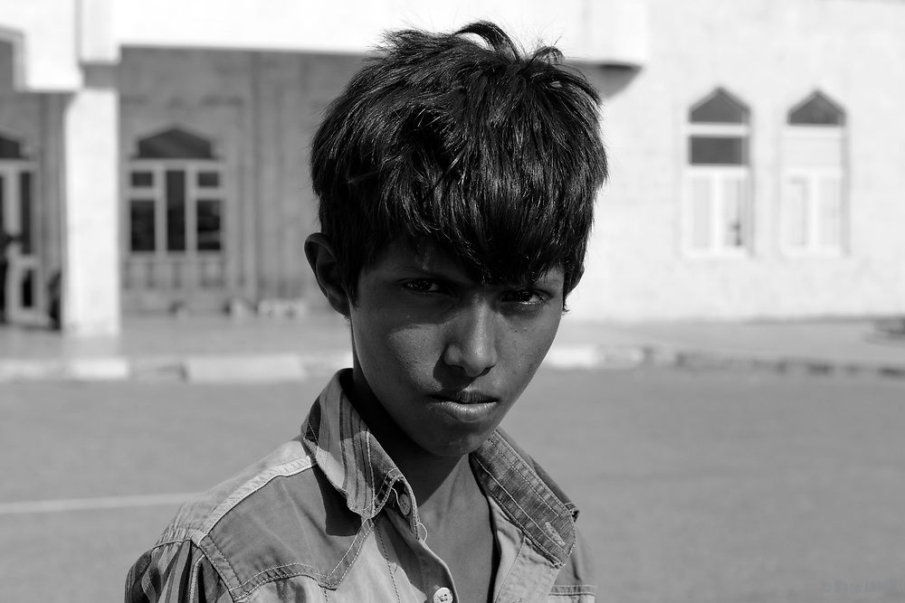 Socotri boy at Moun Airport, Socotra island, listed as World Heritage by UNESCO, Aden Governorate, Yemen, Arabia, West Asia
