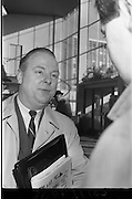 06/02/1964<br /> 02/06/1964<br /> 06 February 1964<br /> Canadian Government Travel Bureau Manager at Dublin Airport. Mr George wilson Powell, of Quebec, European Manager of the Canadian Government Travel Bureau on his first visit to Ireland.