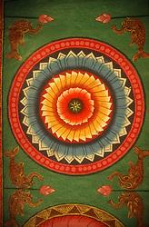 Ceiling paintings at the temple at Madurai; Tamil Nadu; India,