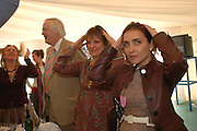 Sir Tim Rice, Viscountess Windsor and Princess Khatani. . Ludlow Charity Race Day,  in aid of Action Medical Research. Ludlow racecourse. 24 march 2005. ONE TIME USE ONLY - DO NOT ARCHIVE  © Copyright Photograph by Dafydd Jones 66 Stockwell Park Rd. London SW9 0DA Tel 020 7733 0108 www.dafjones.com