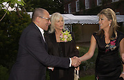 Bruce Oldfield, Countess Filippo Guerrini-Maraldi, Cartier Flower show dinner, Chelsea Physic garden, 24 May 2004. ONE TIME USE ONLY - DO NOT ARCHIVE  © Copyright Photograph by Dafydd Jones 66 Stockwell Park Rd. London SW9 0DA Tel 020 7733 0108 www.dafjones.com