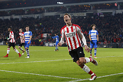 Luuk de Jong of PSV during the Dutch Eredivisie match between PSV Eindhoven and PEC Zwolle at the Phillips stadium on February 03, 2018 in Eindhoven, The Netherlands