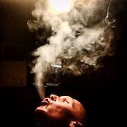 Smoke. #czechrepublic #lysanadlabem #portrait #lysa #prague #praha #prag #night #lysa #light #shadow