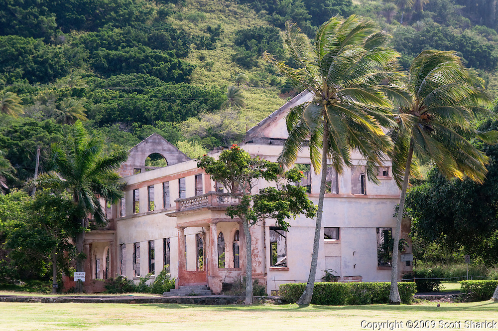 An abandoned school house on the North Shore of Oahu, Hawaii.