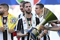 Miralem Pjanic<br /> Esultanza Juventus Campione d'Italia . Celebration Juventus Italian championship winner <br />  Torino 21-05-2017 Juventus Stadium Football Calcio Serie A 2016/2017 Juventus - Crotone .<br /> Foto Image Sport / Insidefoto
