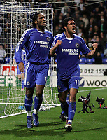 Photo: Paul Thomas.<br /> Bolton Wanderers v Chelsea. The Barclays Premiership. 29/11/2006.<br /> <br /> Michael Ballack (R) of Chelsea celebrates his goal..
