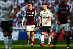 Jack Grealish of Aston Villa and Tom Cairney of Fulham - Rogan/JMP - 26/05/2018 - FOOTBALL - Wembley Stadium - London, England - Aston Villa v Fulham - Sky Bet Championship Play-Off Final.