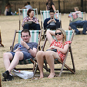 Heatwaves continues at Green park, London, UK