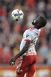 May 27, 2017 - Harrison, New Jersey, U.S - New York Red Bulls defender KEMAR LAWRENCE (92) control a high pass at Red Bull Arena in Harrison New Jersey New York defeats New England 2 to 1 (Credit Image: © Brooks Von Arx via ZUMA Wire)