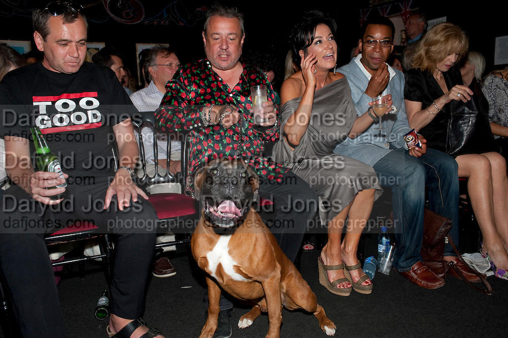 HAMISH MCALPINE; NANCY DELL D'OLIO; BEN DOUGLAS; CATHERINE MANSEL LEWIS, , Burnt Oak premiere of Laurence Lynch play detailing his life as a Soho plumber and close friend to artist Sebastian Horsley. Directed by Nathan Osgood and produced by Tartan Films founder Hamish McAlpine. Leicester Square Theatre, 6 Leicester Place, London, 2 August 2011.<br /> <br />  , -DO NOT ARCHIVE-© Copyright Photograph by Dafydd Jones. 248 Clapham Rd. London SW9 0PZ. Tel 0207 820 0771. www.dafjones.com.