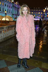 PORTIA FREEMAN at Skate At Somerset House with Fortnum & Mason on 16th November 2016.