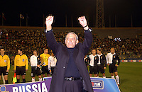 "International Friendly Matchs 2005 / <br /> Italy vs Russia  2-0 ( Sant'Elia Stadium -  Cagliari , Italy )<br /> Luigi Riva "" Gigi Riva "" , Team Manager of Italian National Team and Former Player of Italian National Team on Cagliari Calcio ,<br /> is celebrated in his adoptive city and is withdrawn his jersey number 11 , prior the friendly match"