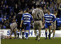 Fotball<br /> FA-cup 2005<br /> Reading v Leicester<br /> 29. januar 2005<br /> Foto: Digitalsport<br /> NORWAY ONLY<br /> Ricky Newman R can't believe he has been sent off after a second yellow