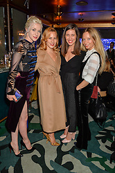 Left to right, PORTIA FREEMAN, CHARLOTTE DELLAL, EMILIA WICKSTEAD and MARTHA WARD at a dinner hosted by Creme de la Mer to celebrate the launch of Genaissance de la Mer The Serum Essence held at Sexy Fish, Berkeley Square, London on 21st January 2016.