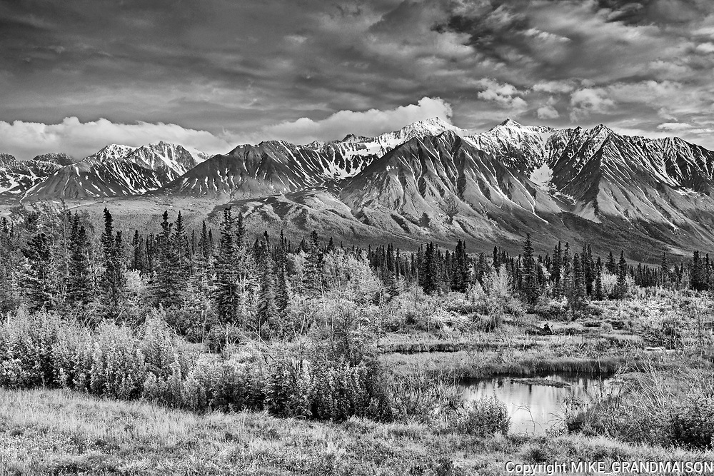 St. Elias Mountains <br />from Haines Junction<br />Yukon<br />Canada