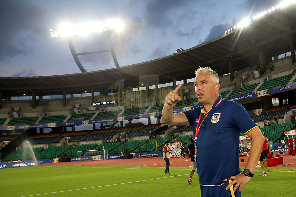 Mumbai City FC Head Coach, Jorge Costa arrive before the start of the match 27 of the Hero Indian Super League 2018 ( ISL ) between Chennaiyin FC  and Mumbai City FC  held at the Jawaharlal Nehru Stadium, Chennai, India on the 3rd November 2018<br /> <br /> Photo by: Faheem Hussain /SPORTZPICS for ISL