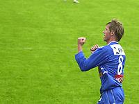 FOTBALL, 15062003, ALFHEIM, TROMSØ/ TIL-LYN/  0-1  / PER EGIL SWIFT JUBLER ETTER 0-1 SCORINGA. <br /> FOTO: KAJA BAARDSEN/DIGITALSPORT