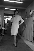 09/04/1964<br /> 04/09/1964<br /> 09 April 1964<br /> Fashion show at Woolcraft Fashion Week at Creation Arcade, Grafton Street, Dublin. Woolcraft Ltd showcase of Alpine Knitwear and Carina Jerseywear. Model wearing design.