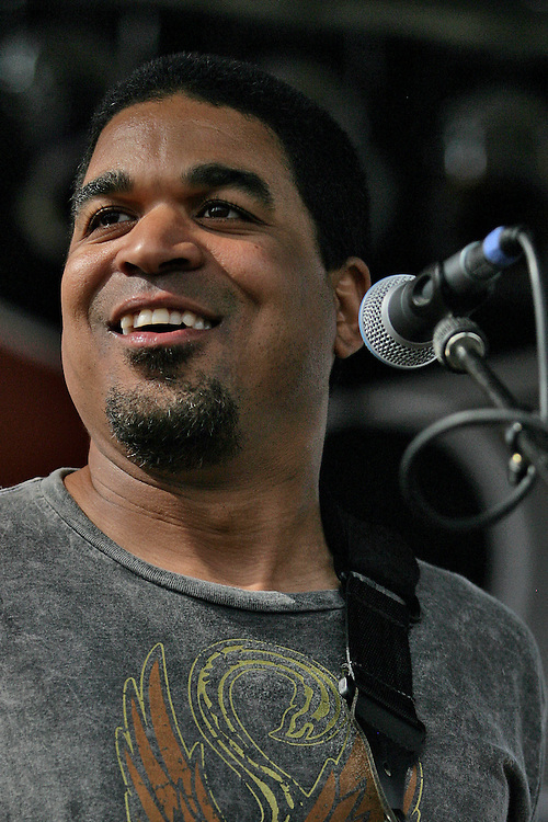 """Oteil Burbridge is a Grammy Award-nominated American multi-instrumentalist, specializing on the bass guitar, trained in playing jazz and classical music from an early age.<br /> <br /> He has achieved fame primarily on bass guitar during the current resurgence of the Allman Brothers Band from 1989 through the present day. He was also a founding member of the band the Aquarium Rescue Unit, and has worked with other musicians who include Bruce Hampton, Trey Anastasio, God Street Wine, Bill Kreutzmann and The Derek Trucks Band, with whom his brother Kofi Burbridge is the keyboardist and flautist.<br /> <br /> Burbridge joined the Allman Brothers in 1997 and has appeared on the CDs Peakin' at the Beacon (2000), Hittin' the Note (2003), One Way Out (2004) as well as the DVD Live at the Beacon Theatre (2003, certified Platinum 2004).<br /> <br /> In 2000, Oteil formed a solo band called Oteil and the Peacemakers based out of Birmingham, Alabama and featuring musicians Matt Slocum keyboards, Mark Kimbrell on guitar, Chris Fryar on drums, and vocalist Paul Henson, a carry over from the post-Colonel Aquarium Rescue Unit releases. They released their first album, Love of a Lifetime, that same year. That was followed up in 2003 by the CD/DVD set entitled Family Secret. In 2005, Burbridge took his music in a greater spiritual direction for their third album titled Believer.<br /> <br /> Oteil Burbridge joined the Bill Kreutzmann Trio alongside Bill Kreutzmann of the Grateful Dead and Scott Murawski of Max Creek, as the BK3. <br /> <br /> Oteil's trademarks include performing barefoot, wearing tie-dye shirts, and performing the acoustic guitar classic """"Little Martha"""" from Eat a Peach on his six-stringed bass guitar. Oteil is most notably recognized for his ability to incorporate scat-singing into his improvised bass solos. His bass style is heavily influenced by Jaco Pastorius, especially his use of bass chords which are used in his bass improvization."""