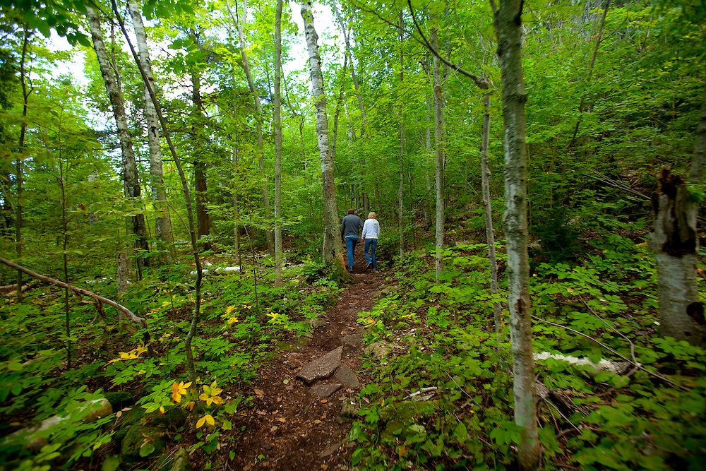 Hiking in Penninsula State Park in Door County Wisconsin.  ©  Green Bay Photographer Mike Roemer Photo. Mike@RoemerPhoto.com 920-217-8021
