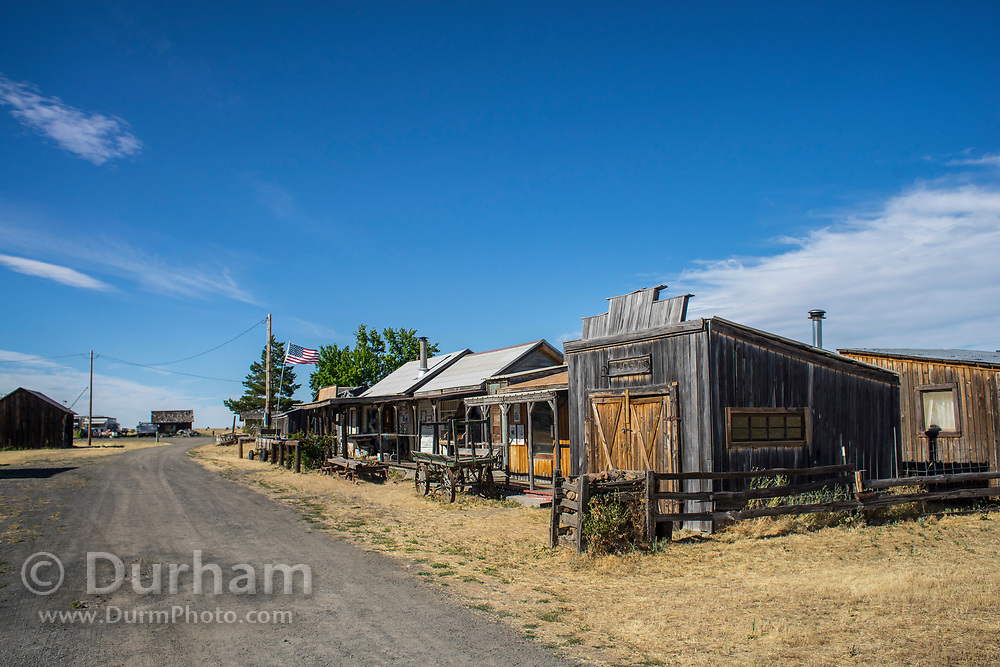 Remnants of an old town in Shaniko, Oregon.