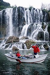 Fly-fishing below Fall Creek Falls on the Snake River in Swan Valley Idaho...Model Released
