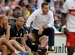 August 5, 2017 - Washington, DC, USA - 20170805 - Toronto FC coach GREG VANNEY watches action against D.C. United with his coaches on the bench in the first half at RFK Stadium in Washington. (Credit Image: © Chuck Myers via ZUMA Wire)