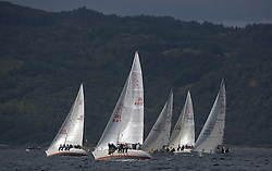 Day three of the Silvers Marine Scottish Series 2016, the largest sailing event in Scotland organised by the  Clyde Cruising Club<br /> Racing on Loch Fyne from 27th-30th May 2016<br /> <br /> Sigma 33, fleet with IRL4412, Miss Behavin, A Lennox / G Simpson, HSC, Sigma 33<br /> <br /> Credit : Marc Turner / CCC<br /> For further information contact<br /> Iain Hurrel<br /> Mobile : 07766 116451<br /> Email : info@marine.blast.com<br /> <br /> For a full list of Silvers Marine Scottish Series sponsors visit http://www.clyde.org/scottish-series/sponsors/