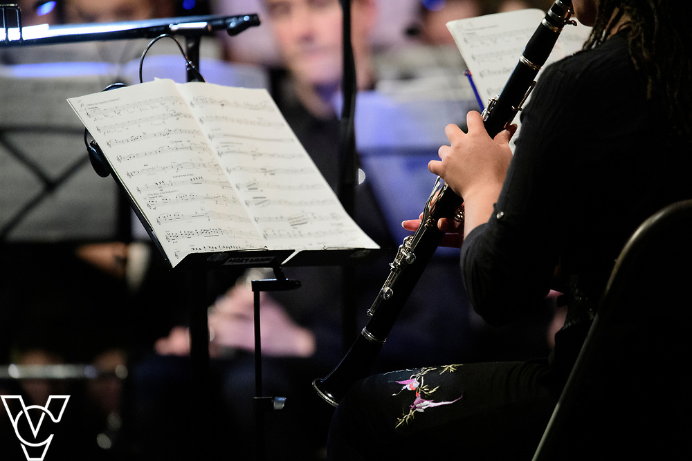 Lincolnshire Youth Wind Orchestra.<br /> <br /> Lincolnshire Music Service's County Groups showcase concert, held at the Engine Shed, Lincoln.<br /> <br /> Picture: Chris Vaughan Photography for Lincolnshire Music Service<br /> Date: April 12, 2019