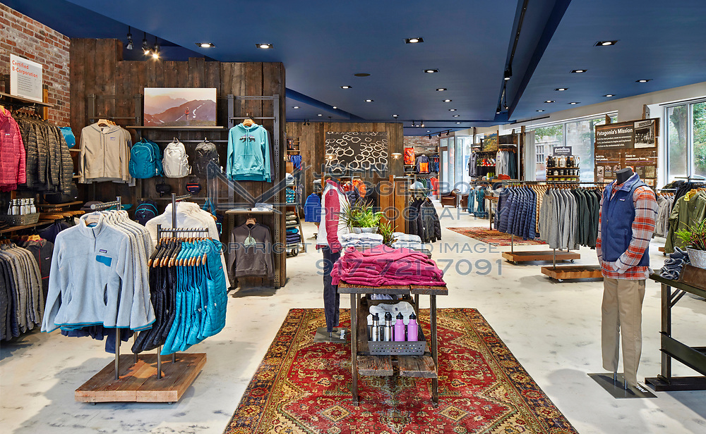 The Patagonia store in New Haven, Connecticut.<br /> Interiors designed by Pirie Associates Architects. Photograph by John Muggenborg.