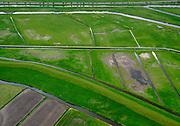 Nederland, Zuid-Holland, Pijnacker-Nootdorp; 14–05-2020; Bergboezem Polder vanOude Leede, ter hoogte van buurtschap Oude Leede, onderdeel van de Berkelse Boezem. De polder, met de Boezemweg,  is een natuurreservaat en tevens voorbestemd als waterberging ofwel een calamiteitenberging.<br /> Bergboezem Polder van Oude Leede, near the hamlet of Oude Leede, part of the Berkelse Bosom. The polder is a nature reserve and also destined as a water storage or a calamity storage.<br /> <br /> luchtfoto (toeslag op standaard tarieven);<br /> aerial photo (additional fee required)<br /> copyright © 2020 foto/photo Siebe Swart