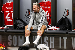 Andreas Weimann of Bristol City looks on in the home dressing room - Rogan/JMP - 27/09/2020 - Ashton Gate Stadium - Bristol, England - Bristol City v Sheffield Wednesday - Sky Bet Championship.