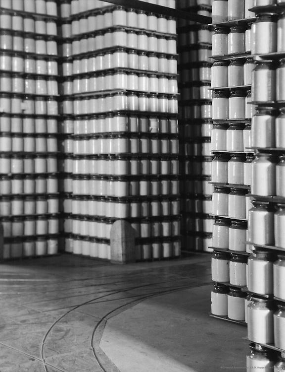Stacks of Marmalade Jars, Hartley Jam factory, England, 1928