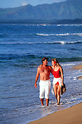Couple on beach, Hawaii