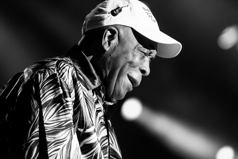Buddy Guy performing at Summerfest in Milwaukee, WI on June 30, 2018.