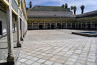 Morocco, Marrakesh. The Bahia Palace is located in Marrakech. The courtyard.