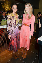 Left to right, ROSANNA FALCONER and GEORGIE MACINTYRE at the launch of hidden bar 'Blind Spot' at St.Martin's Lane Hotel, St.Martin's Lane, London on 6th May 2015.