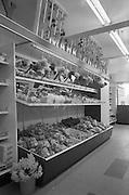 "17/04/1963<br /> 04/17/1964<br /> 17 April 1964<br /> Lipton's self-service store, Crumlin, Dublin. ""Market Garden"" fruit display at Lipton's."