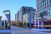 Downtown Long Beach Promenade at Dusk