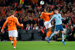 10-10-2019 NED: Netherlands - Northern Ireland, Rotterdam<br /> UEFA Qualifying round Group C match between Netherlands and Northern Ireland at De Kuip in Rotterdam / Virgil van Dijk #4 of the Netherlands, Kyle Lafferty #1 0of Northern Ireland
