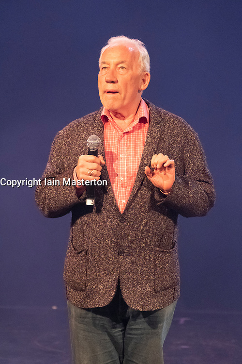 Edinburgh, Scotland, UK; 1 August, 2018. Cabaret acts from the  Assembly Gala Launch - Assembly's renowned opening night gala showcasing this year's programme highlights. Pictured; Simon Callow