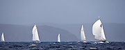 Mistral sailing in the Windward Race at the Antigua Classic Yacht Regatta.